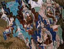 Ovest Mille Buddha Grotte di Dunhuang murales